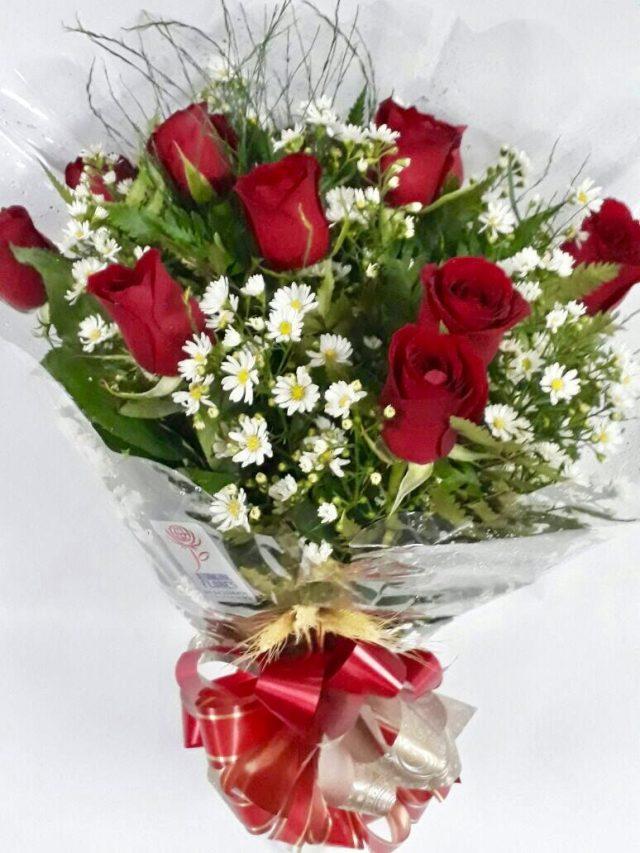 Buquê 12 rosas NACIONAL